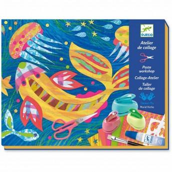 Djeco Zestaw artystyczny Kolaż z Papierem dla dzieci +8