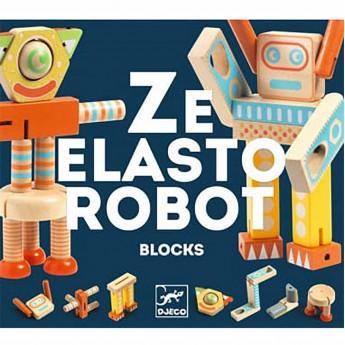 Djeco Drewniany robot Ze Elastorobot +3