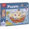 Apli Kids Puzzle obserwacyjne Statek piratów 104 el. 5+