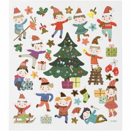 Naklejki Ozdobne Dzieci w Boże Narodzenie Creativ Company +3