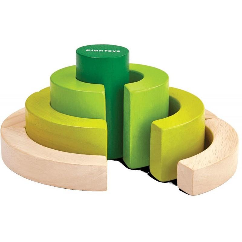 Plan Toys Drewniane klocki, nauka ułamków +18 mc