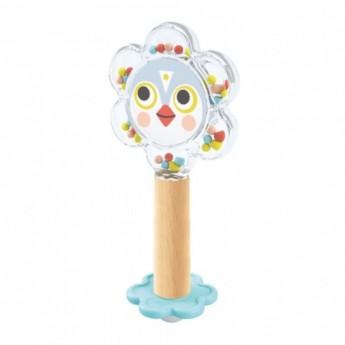Djeco Grzechotka z lusterkiem Baby Flower dla niemowląt +3m