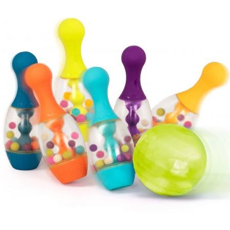 B.Toys Kręgle świecące czerwone dla dwulatka Let's Go Bowling