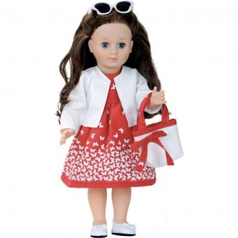 Petitcollin Lalka dla dzieci Marie-Francoise 40cm Madone czerwona sukienka