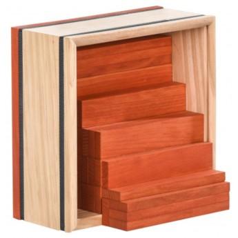 Kapla 40szt pomarańczowe drewniane klocki deseczki