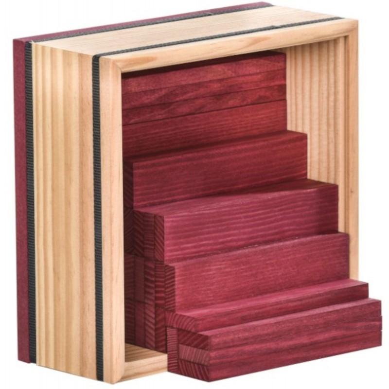 Kapla 40szt fioletowe drewniane klocki deseczki