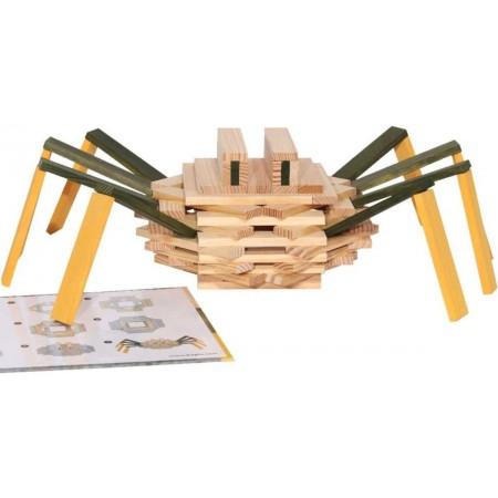 Kapla Spider Case 75szt Pająk z klocków deseczek +3
