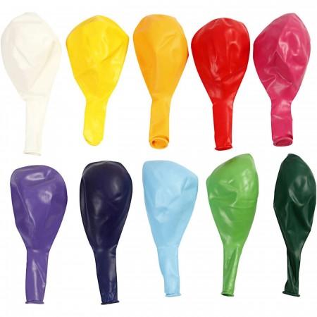 Zestaw 10 kolorowych baloników 23cm, Creativ Co. | Dadum Kraków