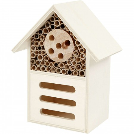 Insect And Butterfly Hotel, H: 18 cm, Depth 9 cm, W: 14 cm, Plywood, 1 pc