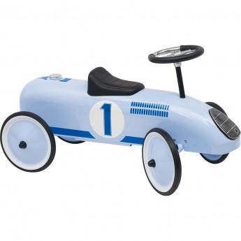 Goki jeździk metalowy retro błękitny dla dzieci +12mc