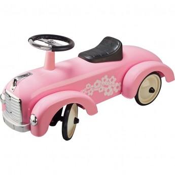 Goki jeździk metalowy retro różowy dla dziewczynek +12mc