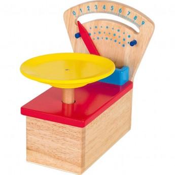 Goki Drewniana waga do zabawy w sklep dla dzieci +3