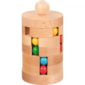 Goki Wieża z Kulkami drewniana gra logiczna dla dzieci   Dadum Kraków