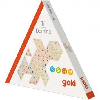 Goki Gra tri-domino 72 trójkątne elementy dla dzieci +5
