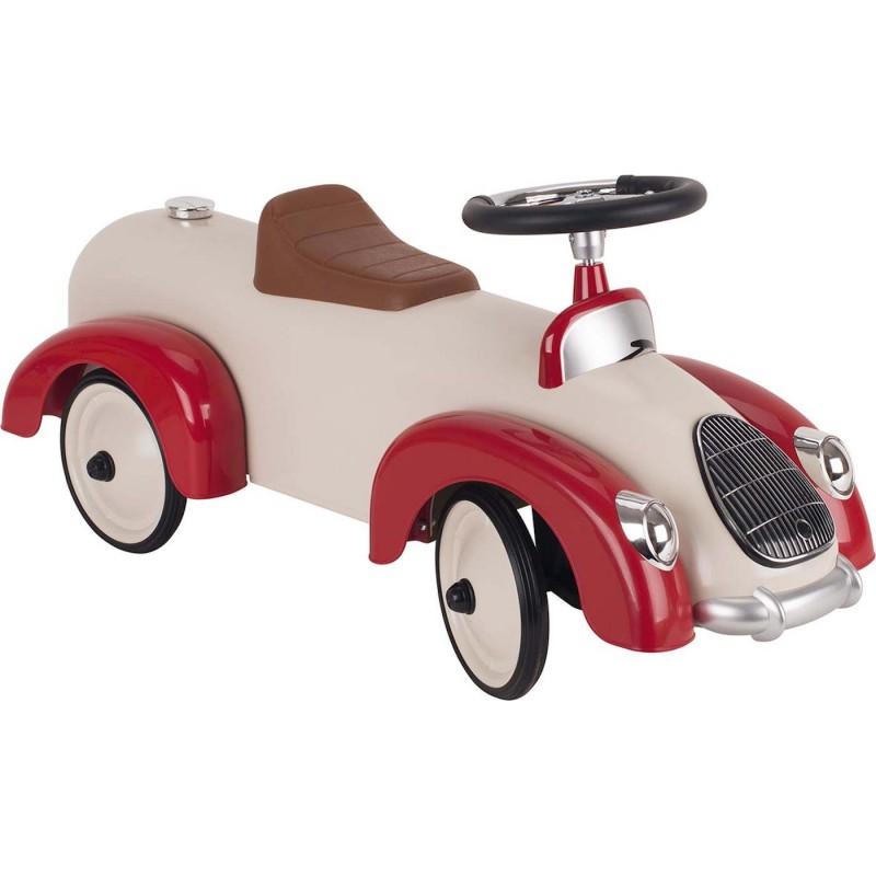 Goki jeździk metalowy retro beżowo-czerwony +12mc
