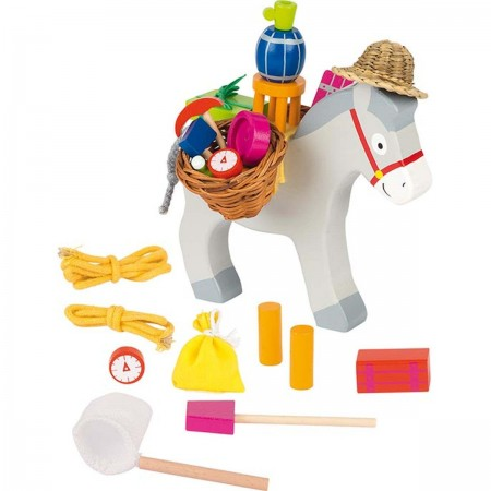 Goki Osiołek zręcznościowa gra drewniana dla dzieci +5