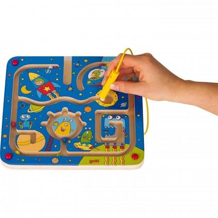 Goki gra labirynt magnetyczny W Kosmosie dla 2-latków
