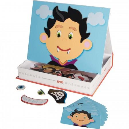 Goki Twarze Chłopców zabawka magnetyczna +3