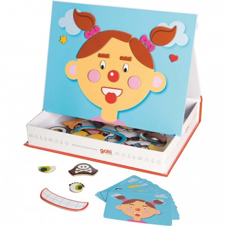 Goki Twarze Dziewczynek zabawka magnetyczna +3
