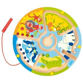 Goki gra labirynt magnetyczny Uczę się liczyć w Zoo +2