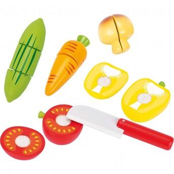 Goki Warzywa drewniane na rzep do krojenia 5 sztuk zabawka +3