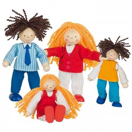 Goki 4 lalki drewniane Lifestyle do zabawy w domku