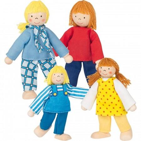 Goki 4 lalki drewniane Young Style do zabawy w domku