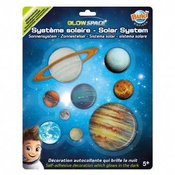 Buki Układ Słoneczny Świecący w ciemności naklejki +5