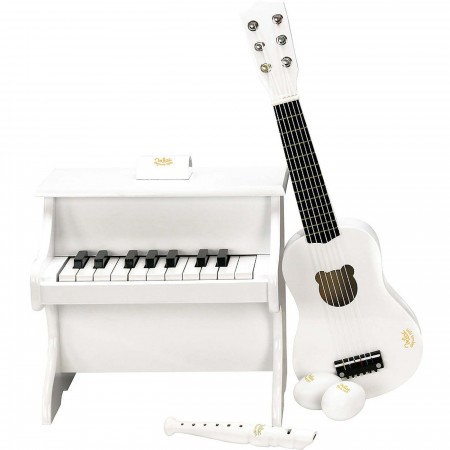Vilac pianino białe drewniane zabawka dla dzieci, z nutami | Dadum