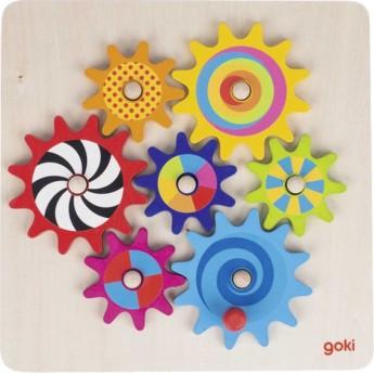 Goki Koła Zębate zabawka drewniana dla dzieci od 3 lat