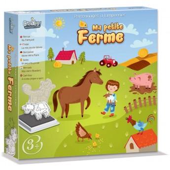 Crea Lign' Stempelki piankowe Farma 10 sztuk dia dzieci +4