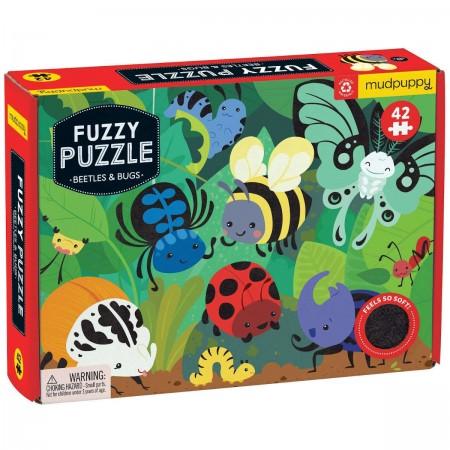 Mudpuppy Puzzle sensoryczne dotykowe Żuczki 42 elementy
