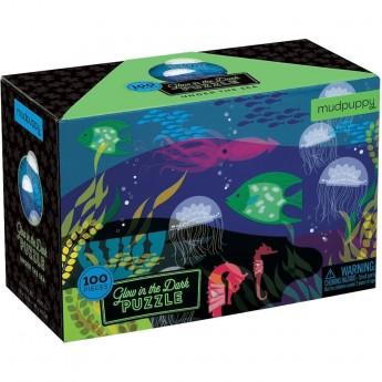 Mudpuppy Puzzle świecące w ciemności Pod Wodą 100 elementów 5+