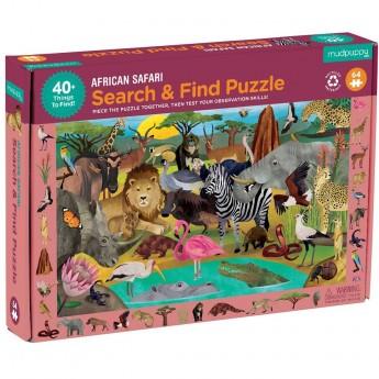 Mudpuppy Puzzle obserwacyjne Afrykańskie safari 64 elementy 4+