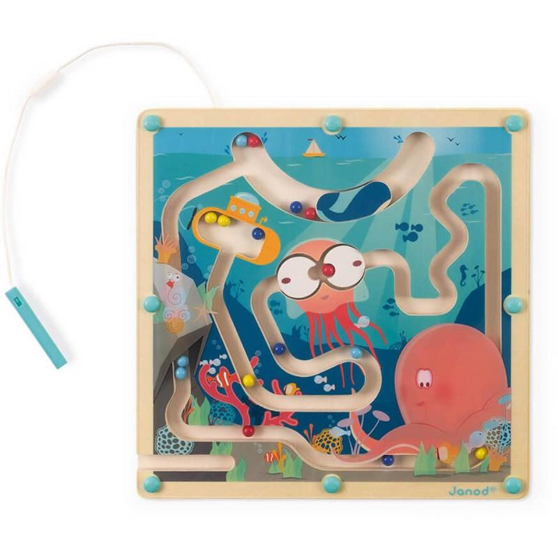 Janod Gra magnetyczny labirynt Ocean dla dzieci + 2 lat | Dadum Kraków