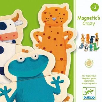 Djeco puzzle magnetyczne Szalone Zwierzęta układanki