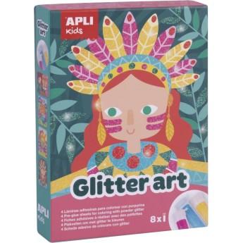 Apli Kids Zestaw artystyczny z brokatem dla dzieci +5 | Dadum Kraków