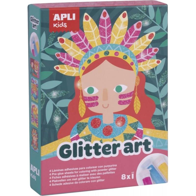 Apli Kids Zestaw artystyczny z brokatem dla dzieci +5   Dadum Kraków