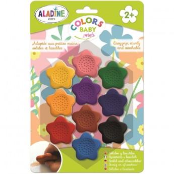 Aladine Duże kredki kamyczki w kształcie Kwiatków +2