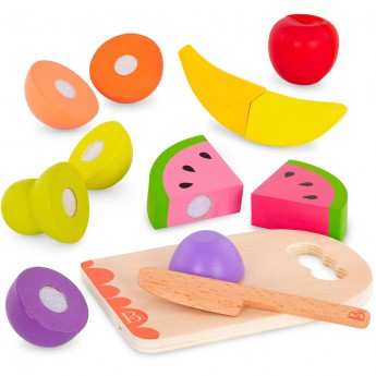 B.Toys Owoce drewniane do krojenia na rzep +2 lat