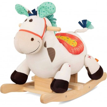 B.Toys Pluszowy koń na biegunach Rodeo Rocker Spotty