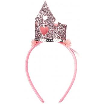 Opaska korona Carlyn różowa dla dziewczynki, Souza!