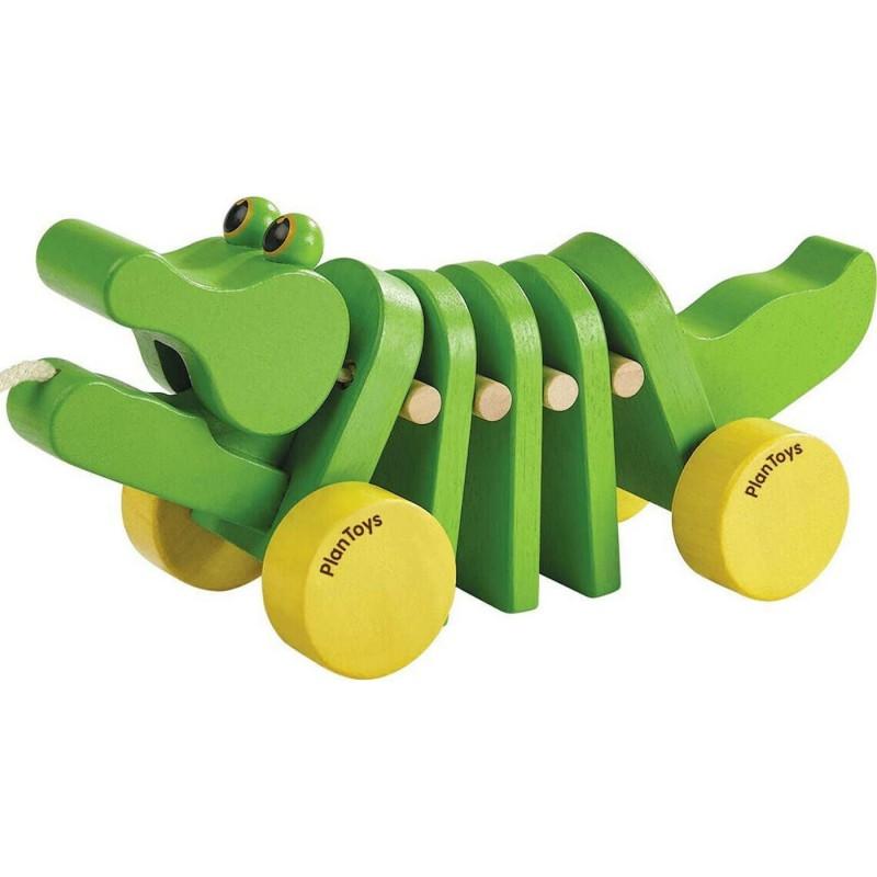 Krokodyl zabawka do ciągnięcia +12m, Plan Toys