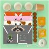 Zestaw kreatywny Doniczki Zwierzaczki z origami dla dzieci +5