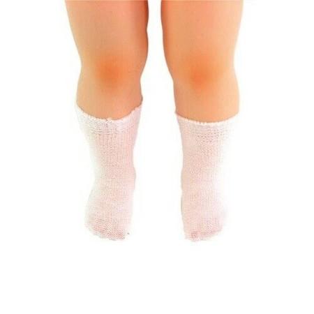 Skarpetki białe dla lalek 28-45cm zabawka, Petitcollin