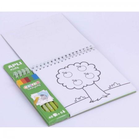 Apli Kids Kolorowanka z kredkami Farma dla dzieci