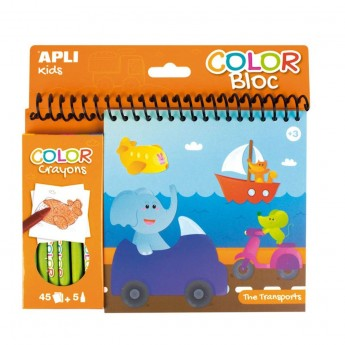 Apli Kids Kolorowanka z kredkami Transport