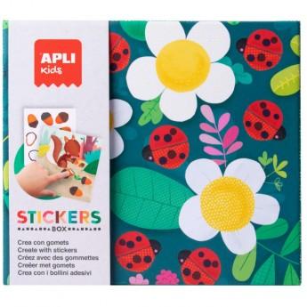 Zestaw kreatywny z naklejkami Apli Kids - Biedronka