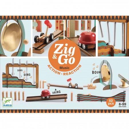 Djeco Zestaw Zig & Go 52 elementy zabawka edukacyjna +8
