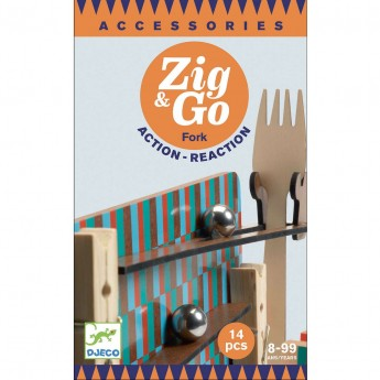 Djeco Zestaw Zig & Go 14 elementów zabawka edukacyjna +8